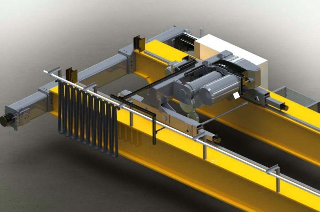 Мостовой кран в 3D